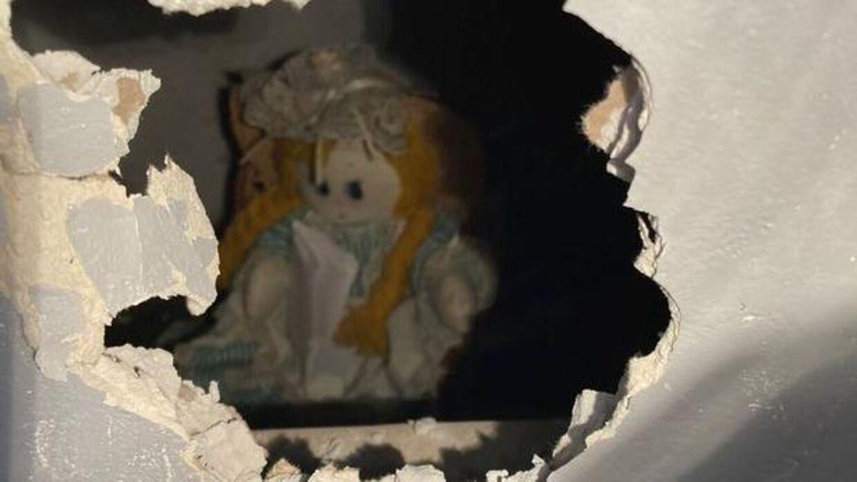 Sådan så der ud inde i hullet.