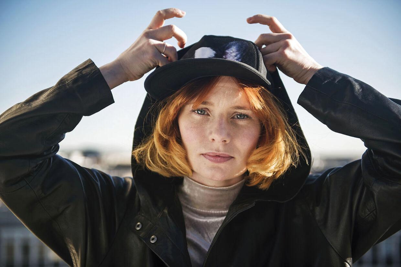 Portræt af sangerinden Annika Aakjær. Tirsdag den 16. februar 2016.