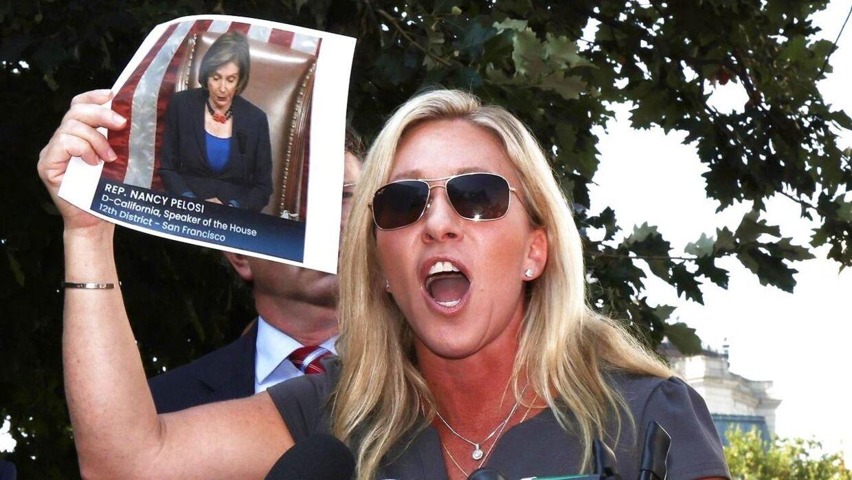 Marjorie Taylor Greene er ikke fan af den Demokratiske leder i Repræsentanternes Hus Nancy Pelosi.