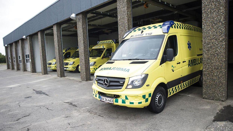 Manden blev bragt til behandling på Universiteteshospitalet i Skejby. (Arkivfoto)