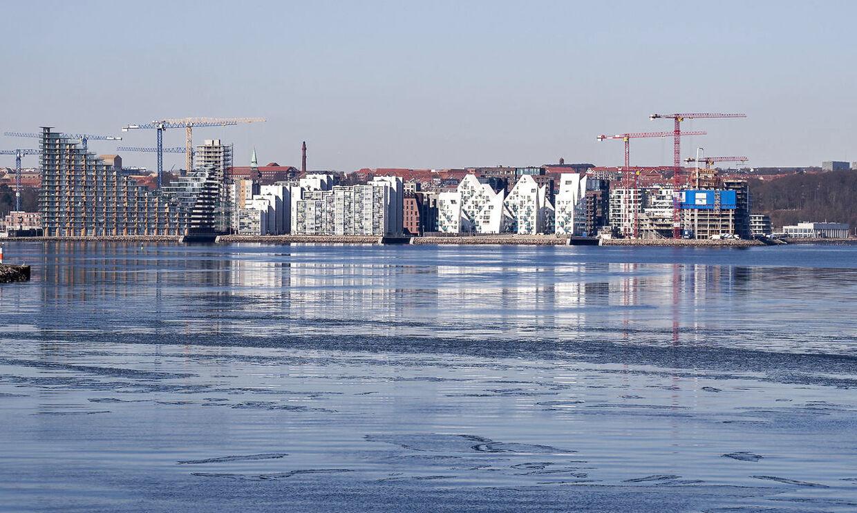 Boligbyggeri på Aarhus Ø, 9. marts 2021.
