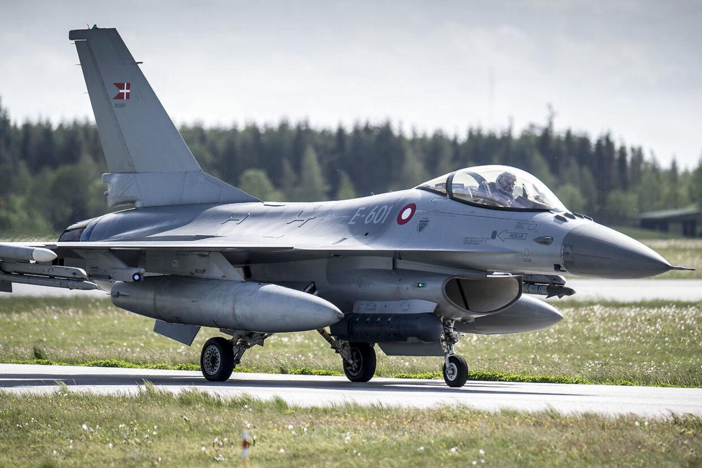 Her ses endnu et af de nyeste kampfly på Flyvestation Skrydstrup. Foto: Mads Claus Rasmussen/Ritzau Scanpix)