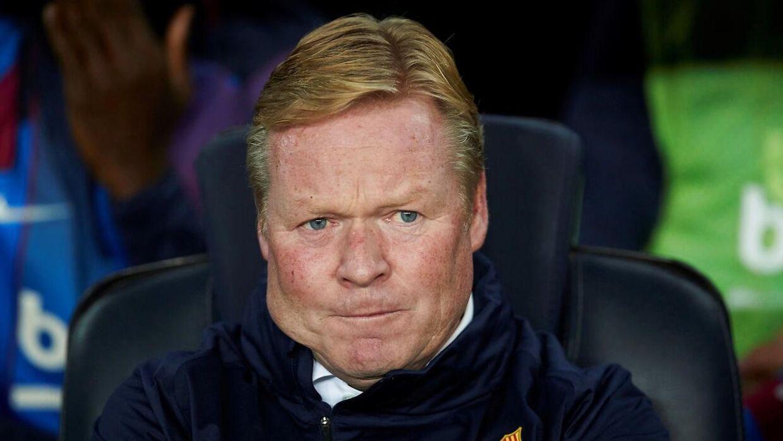 Ronald Koeman er af flere medier blevet meldt færdig som cheftræner i Barcelona, men insisterer selv på, at han ikke er på vej ud.