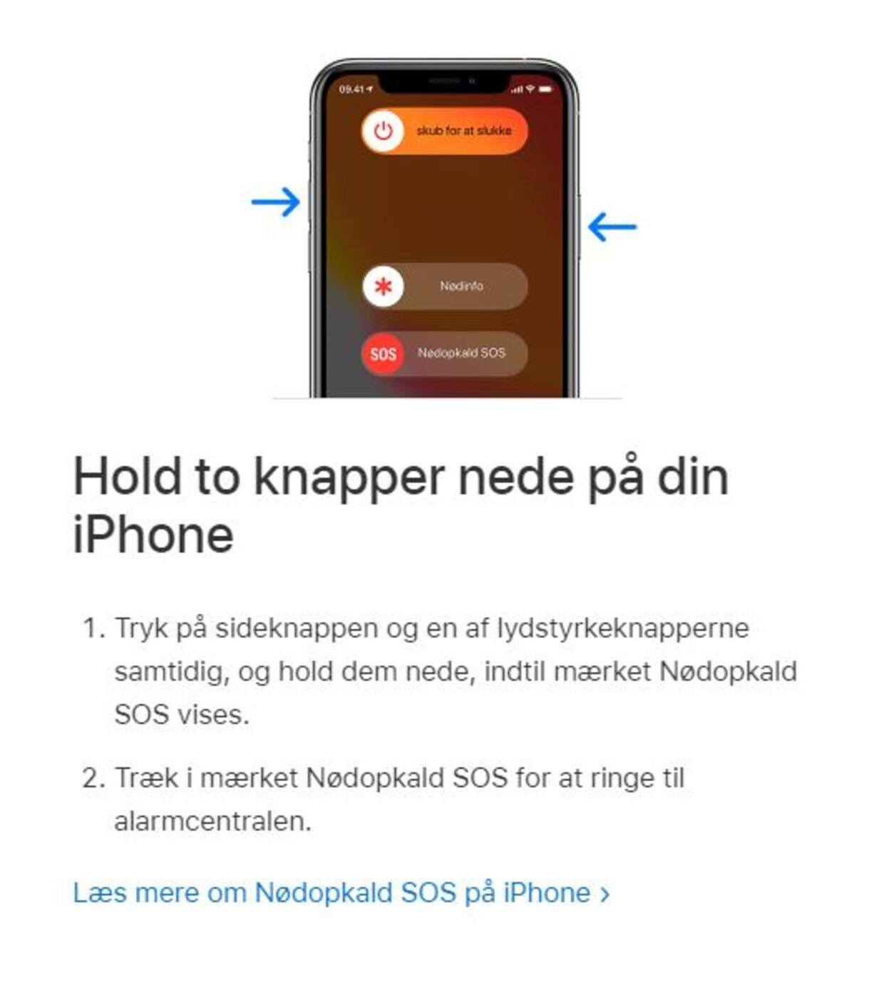 Sådan ringer din iPhone 112, når den for eksempel blive trykket i tasken eller bukselommen.
