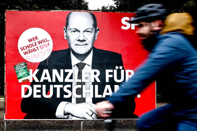 Socialdemokraten Olaf scholz er nu favorit til at blive Tysklands nye kansler.