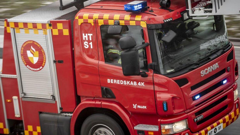 Nordjyllands Beredskab måtte rykke ud til en brand i Hou torsdag aften.