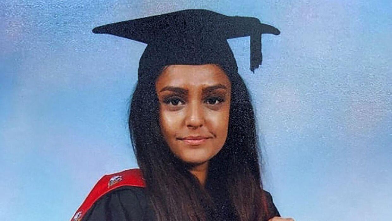 The Metropolitan Police i London har offentliggjort dette billede af Sabina Nessa, som blev fundet myrdet i en park i London 17. septemer.