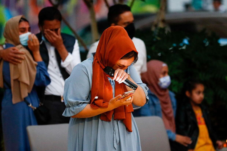 Sabinas søster Jebina Yasmin Islam talte fredag aften ved mindehøjtideligheden.