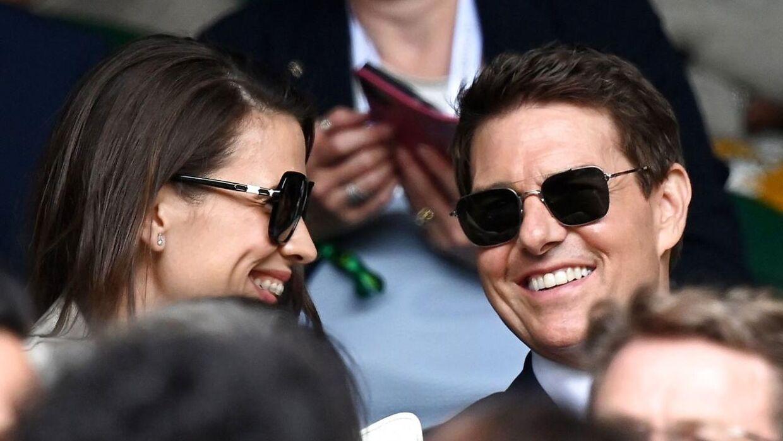 Tom Cruise ses her med Hayley Atwell, som han altså nu ikke danner par med.