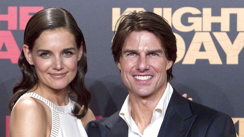 Tom Cruise ses her med sin ekskone Katie Holmes.