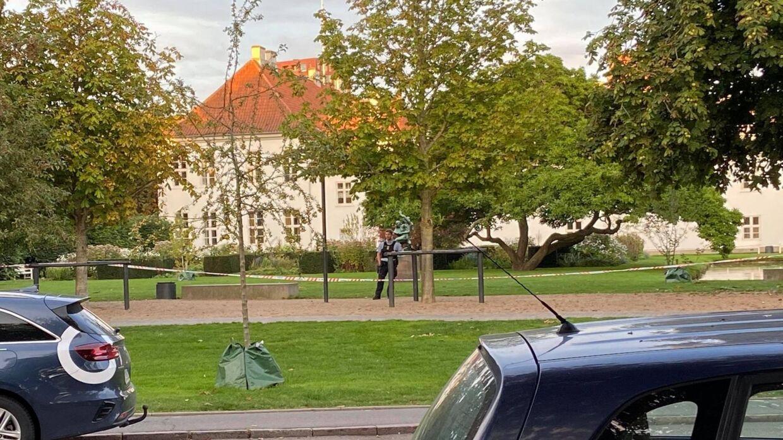 Lørdag aften er store dele af Kongens Have i Odense afspærret af politiet.