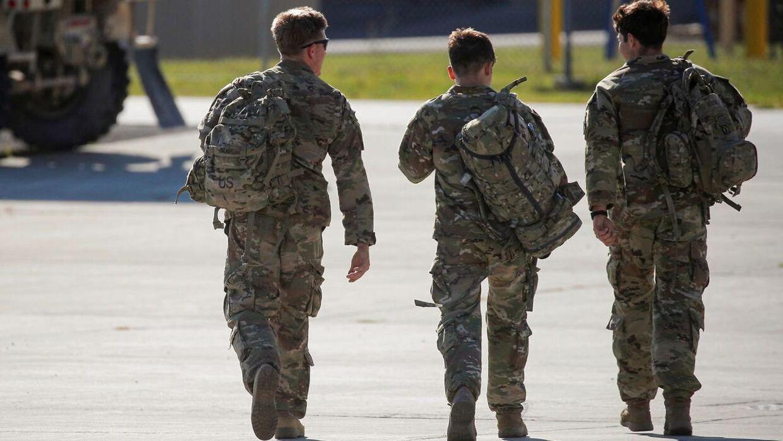 Amerikanske soldater i forbindelse med tilbagetrækningen fra Afghanistan i denne måned.