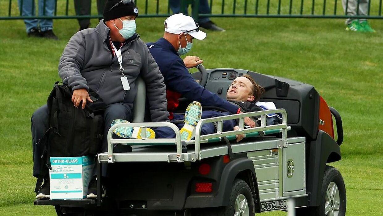 Tom Felton blev kørt væk og kom efterfølgende på hospitalet.