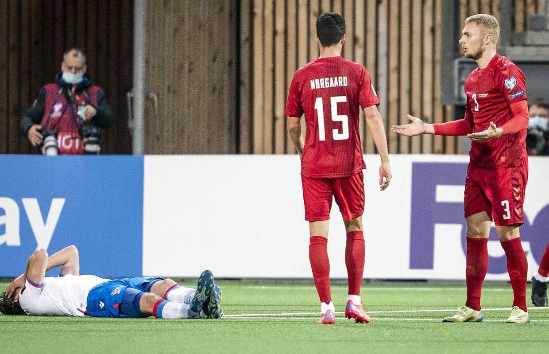 Victor Nelsson var senest i aktion for det danske landshold under VM-kvalifikationskampen mod Færøerne.