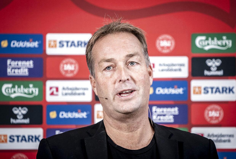 Kasper Hjulmand udtager landsholdet til kampene mod Moldova og Østrig. København, mandag den 27. september 2021.