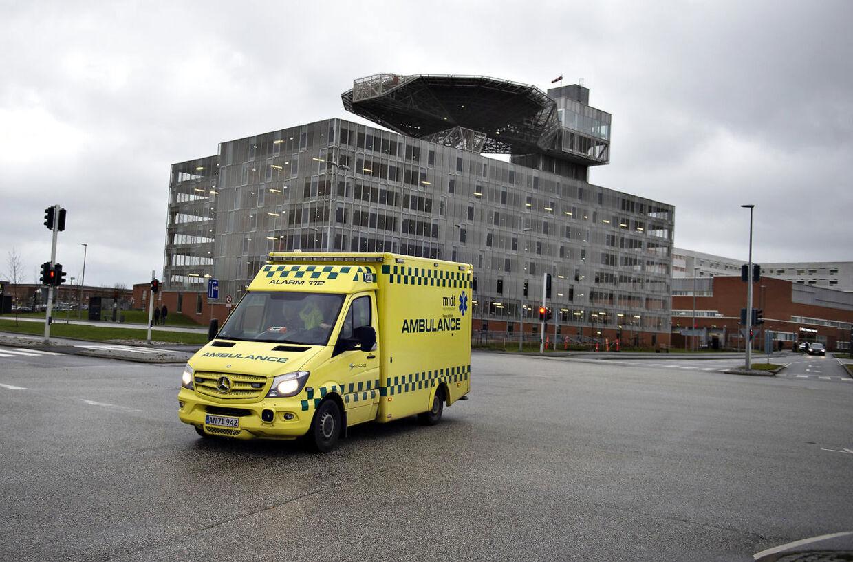 Aarhus Universitetshospital, p-hus med helikopterplatform ved akutmodtagelsen, onsdag 16. januar 2019.