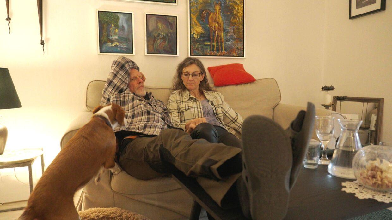 Jonna Lis Pedersen og Carsten Thybo Nielsen. Og hunden Gabbie.