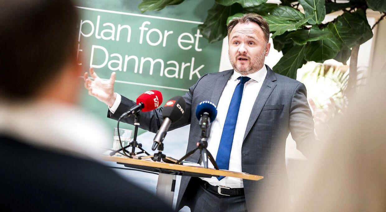 Klimaminister Dan Jørgensen, da han holdt pressemøde i Klima, Energi og Forsyningsministeriet i denne uge