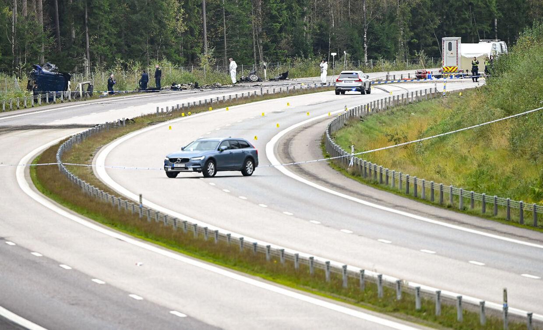 Ulykkesstedet har været spærret af i flere dage. Men er nu åben for trafik igen.