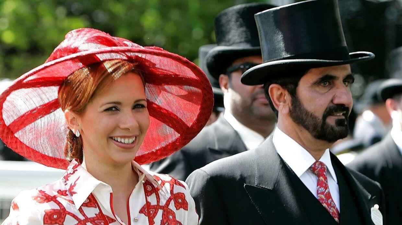 Prinsesse Haya ses her i 2008 med sin daværende mand, herskeren af Dubai, Sheikh Mohammed bin Rashid Al-Maktoum.