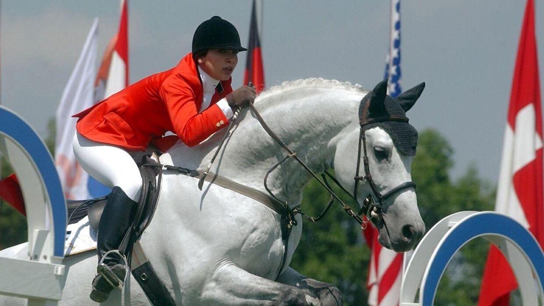 Prinsesse Haya var i sine unge dage en dygtig springrytter, der deltog i OL.