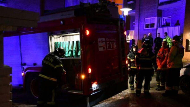 Branden kom hurtigt under kontrol, og ingen personer kom til skade. Foto: presse-fotos.dk.