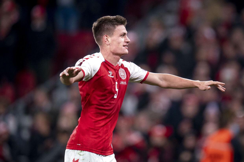 Joakim Mæhle har nu scoret syv mål i 21 landskampe. Liselotte Sabroe/Ritzau Scanpix