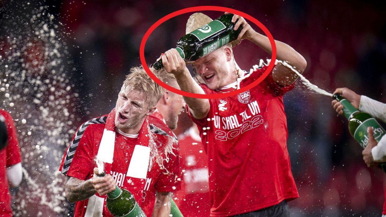 Andreas Cornelius havde også fået hat på tirsdag aften.