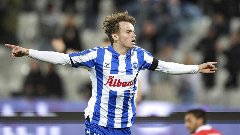 Jakob Breum scorede til 6-0, da OB bankede Vejle i Superligaen.