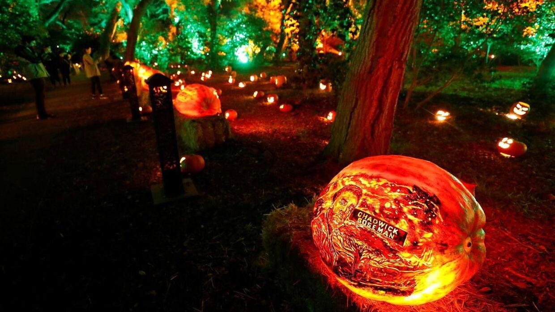 Mange steder står den på halloween i efterårsferien. Genrefoto.