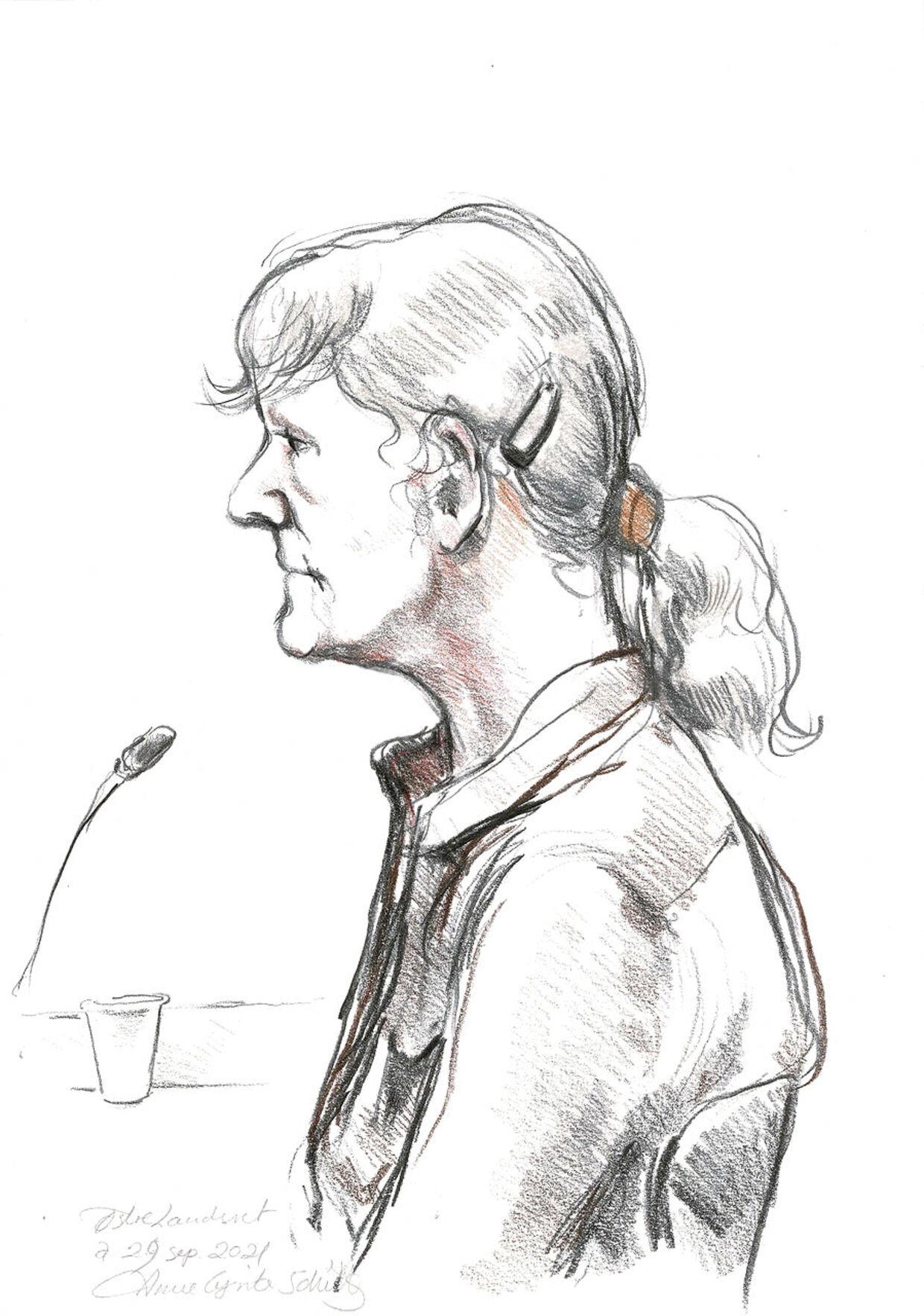 Den svindeldømte Britta Nielsen var indkaldt som vidne i landsretten under sine børns ankesag. I byretten ønskede hun ikke at vidne.