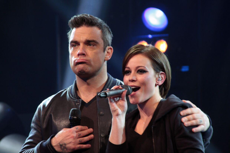Robbie Williams drillede Voice-deltager Søs Haals under lørdagens generalprøve