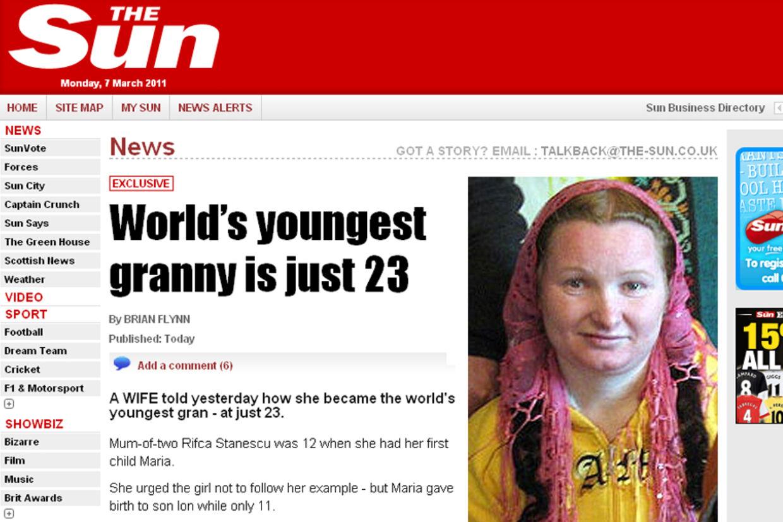 Verdens yngste mor