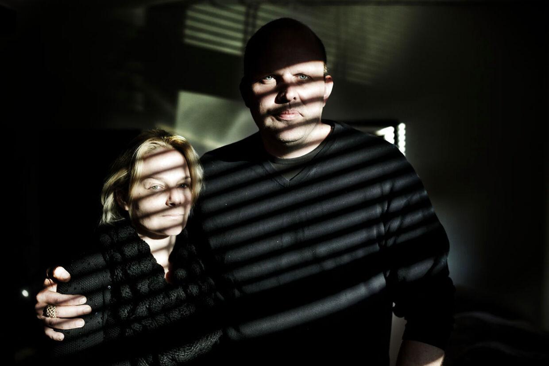 Den tidligere rocker Lars Jensen og hans kone Marianne.