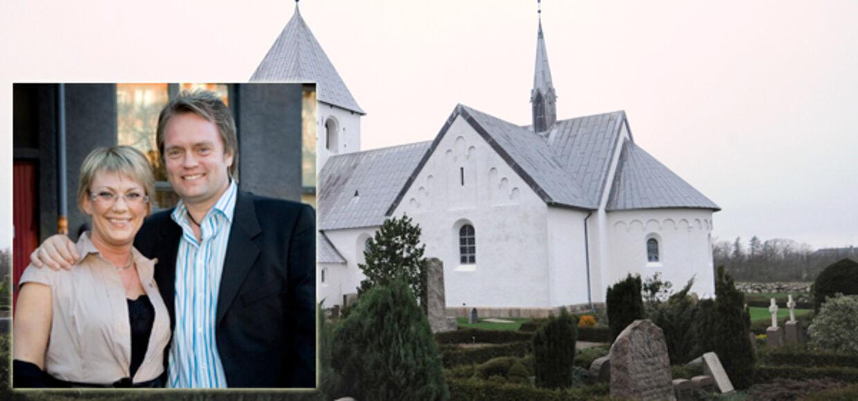 Det er i denne kirke i Hurup Helle lørdag bliver begravet.