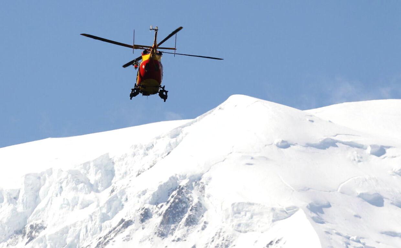En dansker skal være blevet indlagt efter en skiulykke, hvor han blev begravet i en lavine. Billedet er er taget ved en anden begivenhed.