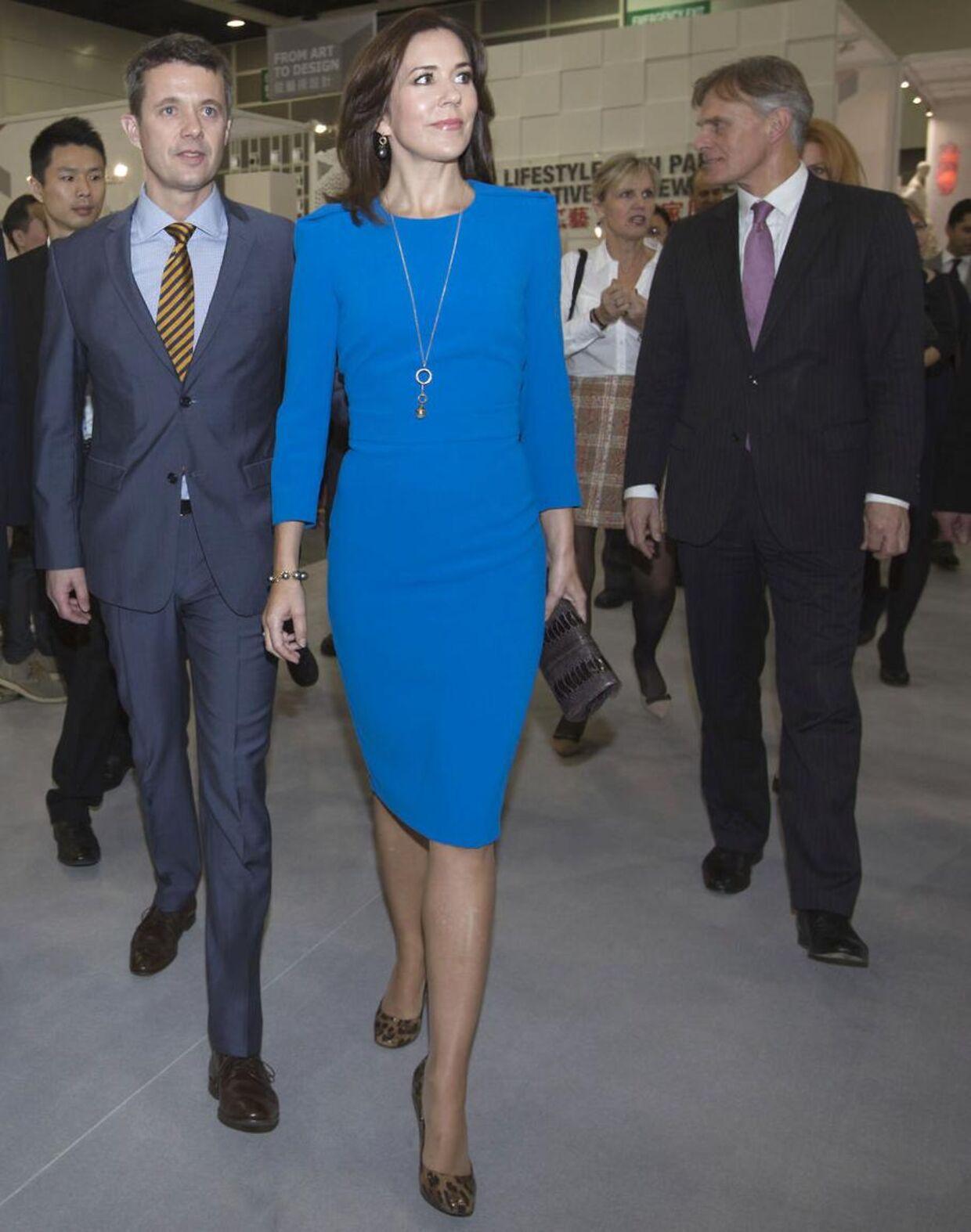 Kronprinsparret ved Business of Design Week udstillingen i Hong Kong d. 6. december 2012.