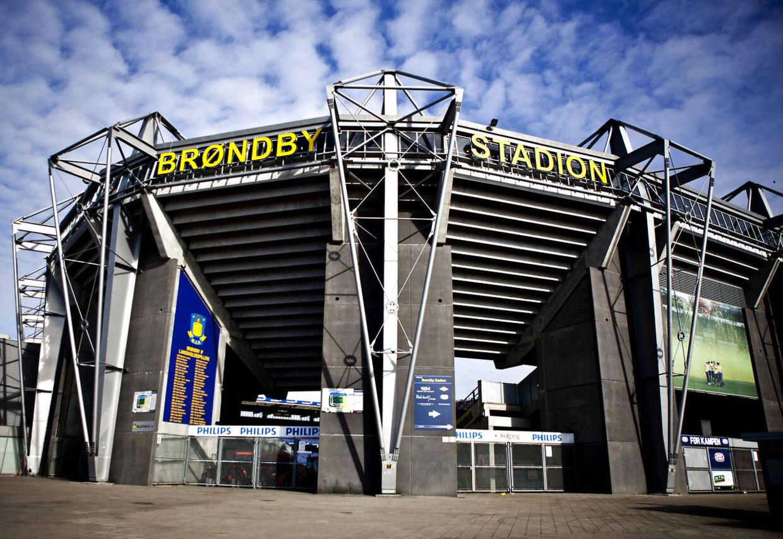 Brøndby Stadion, marts 2011.