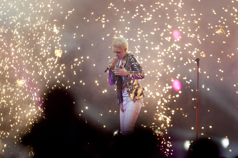 X-Factor Finale i Parken - Sarah. (Foto: Jeppe Michael Jensen/Scanpix 2011). (Foto: Jeppe Michael Jensen/Scanpix 2011)