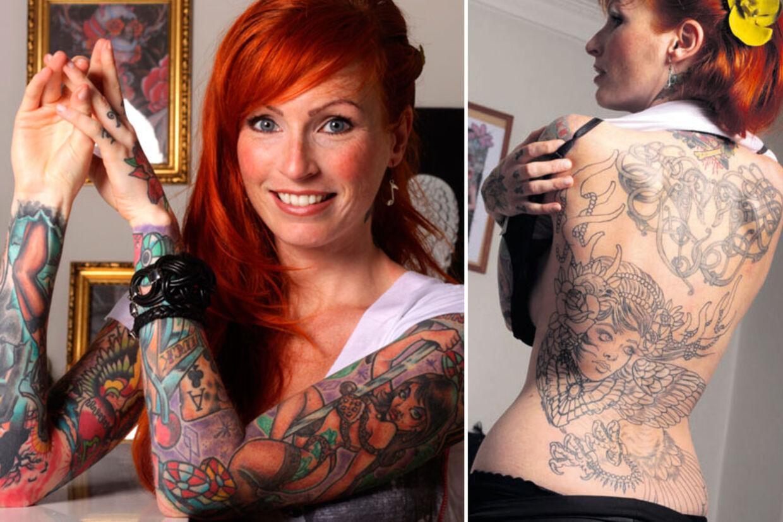 tatoveringer på ryggen