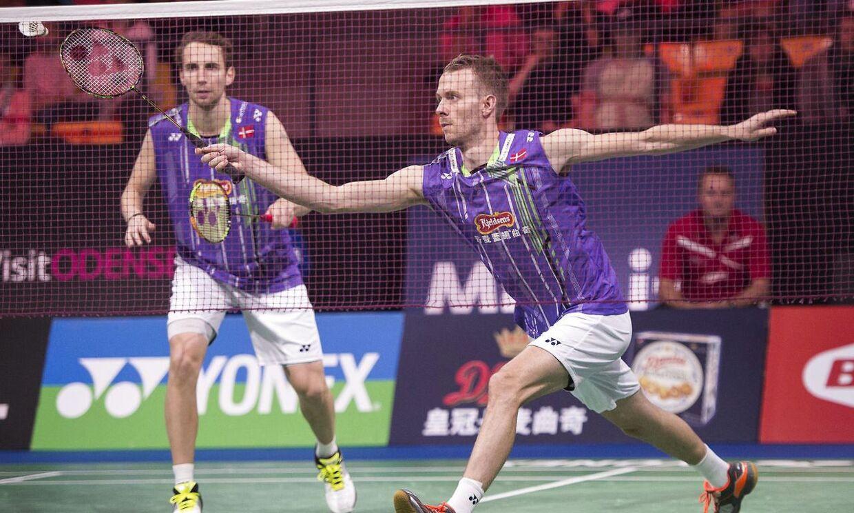 Mathias Boe (th) og Carsten Mogensen.