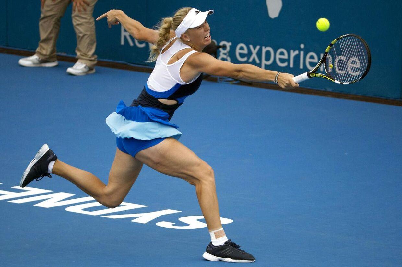 Caroline Wozniacki i kamp mod Lucie Safarova.