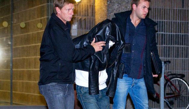 Her bliver Amagermanden arresteret.