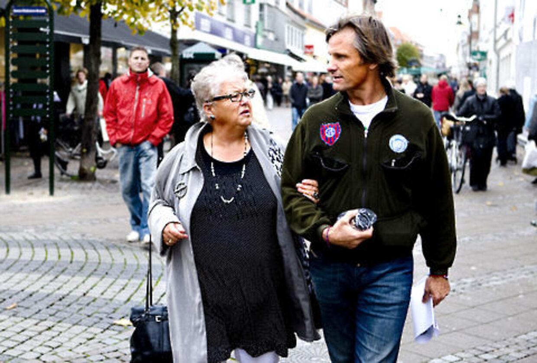 Faster Tulle og Viggo Mortensen tog sig lige en strøgtur i Roskilde.