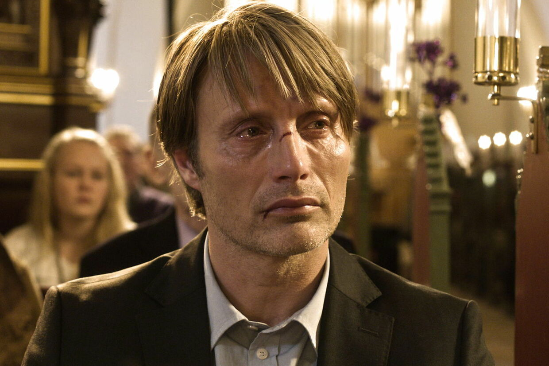 Mads Mikkelsen som 'Lucas' i Thomas Vinterbergs film 'Jagten'.