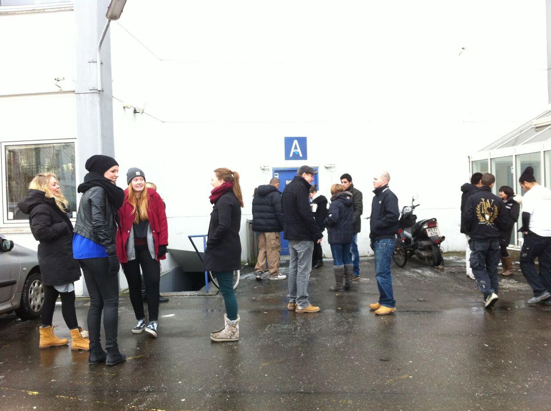 Elever på Københavns Tekniske Skole.