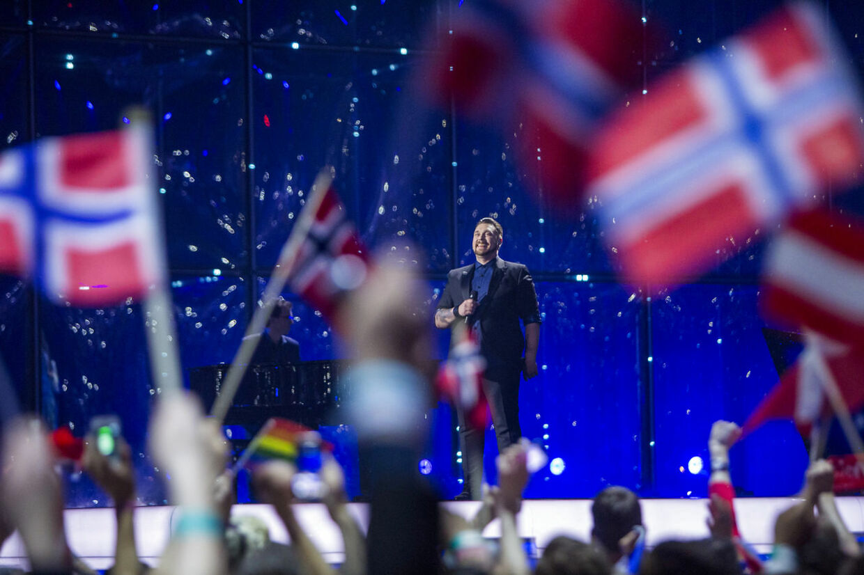 Carl Espen representing Norway perform 'Silent Storm' during Second Semi-Final of the 59th annual Eurovision Song Contest in Copenhagen, Denmark, 08 May 2014. The grand final will take place on 10 May