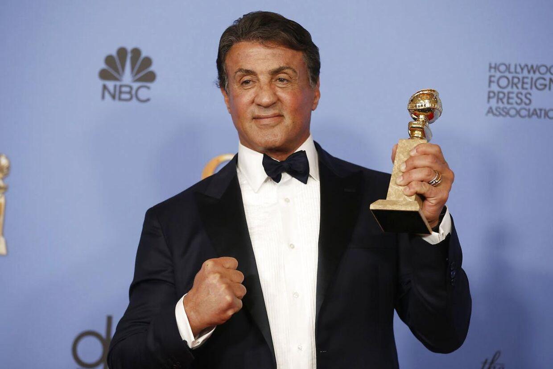 Sylvester Stallone vandt en Golden Globe for sin rolle i boksefilmen 'Creed'