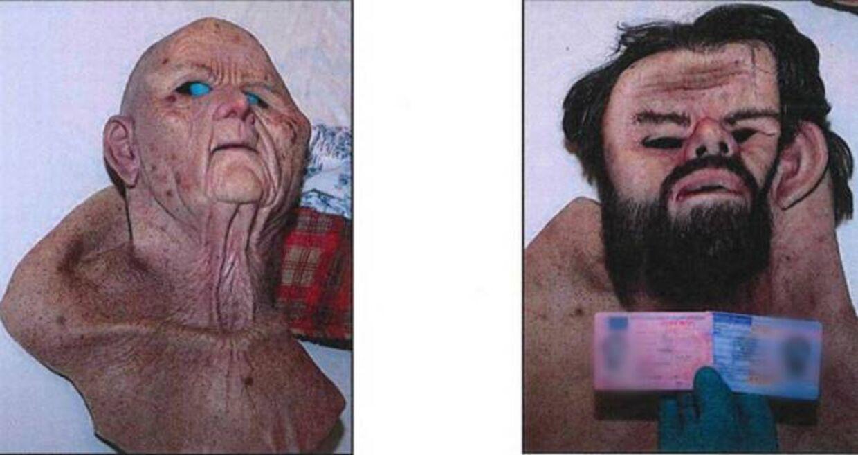 Den dømte læge brugte masker for at maskere sig selv på den lange køretur fra Stockholm til bunkeren i Skåne.