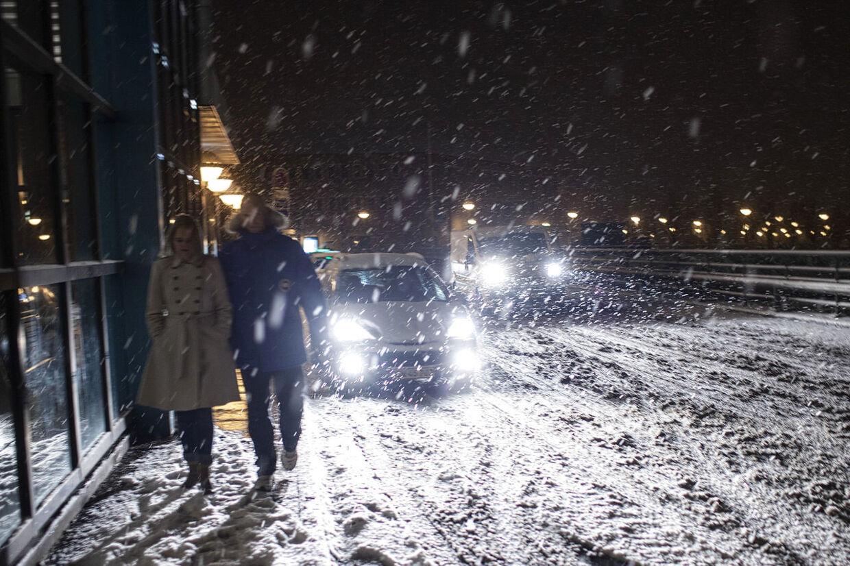 Fra torsdag aften og i løbet af natten til fredag vil et snevejr brede sig til hele landet. Der vil falde mellem 5 og 12 centimeter sne over hele Danmark.(Foto: David Leth Williams/Scanpix 2014)